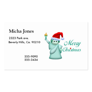 Merry Christmas Statue Of Liberty Double-Sided Standard Business Cards (Pack Of 100)