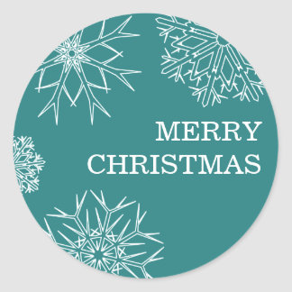 Merry Christmas Stickers - Envelope Seals - Green