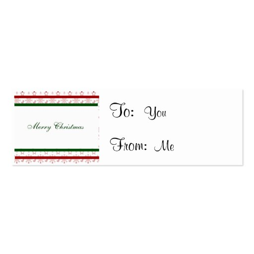Merry Christmas Stockings and Snowflakes Business Card Templates