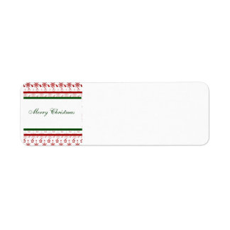 Merry Christmas Stockings and Snowflakes Return Address Label