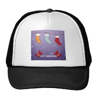 Merry Christmas Stockings & Bells Trucker Hat