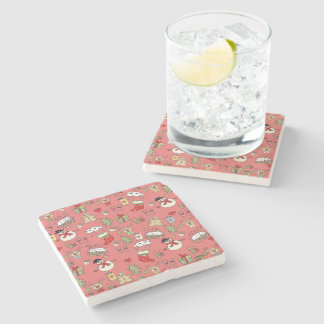 Merry Christmas Stone Beverage Coaster