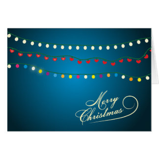 Merry Christmas String Lights Holiday Card
