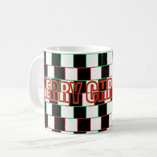 Merry Christmas Striped Illusion Mug-it's magic Coffee Mug