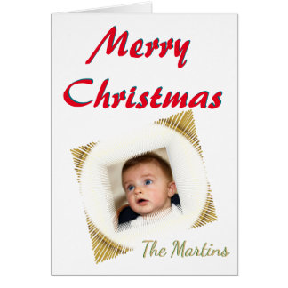 Merry Christmas Stylized Vignette Photo Template Card