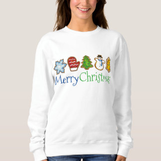 Merry Christmas Sugar Cookies Holiday Sweatshirt