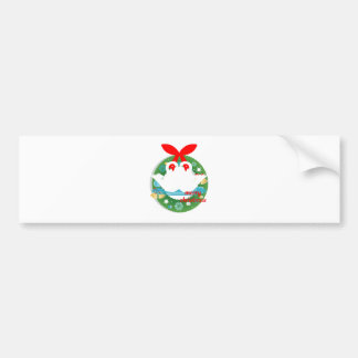 merry christmas swans bumper sticker