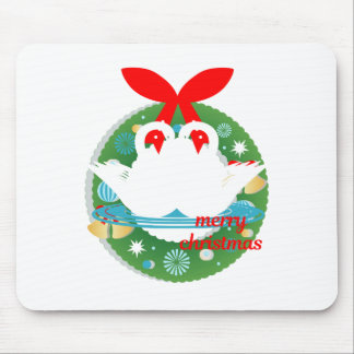 merry christmas swans mouse pad