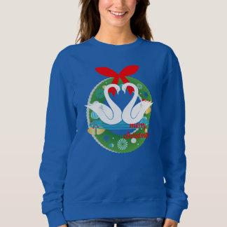 merry christmas swans sweatshirt