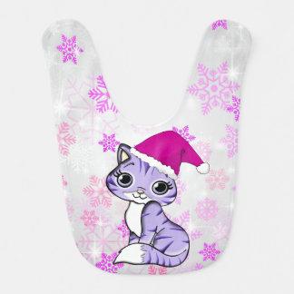 Merry Christmas Sweet Kitten Bib