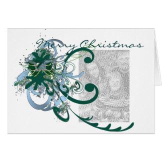 Merry Christmas Swirly Paint Splat... - Card