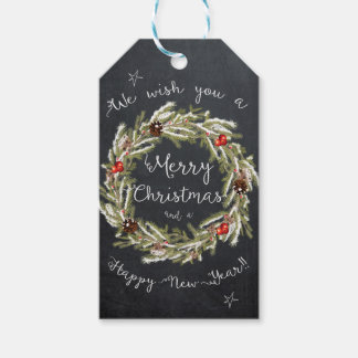 Merry Christmas Tags chalkboard holiday