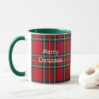 Merry Christmas Tartan Coffee Mug