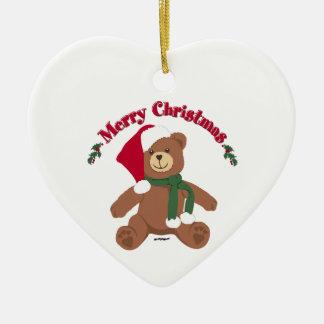 Merry Christmas Teddy Bear Christmas Ornaments