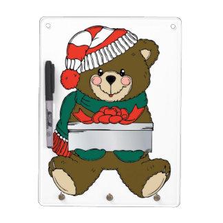 """MERRY CHRISTMAS"" TEDDY BEAR DRY ERASE WHITEBOARDS"