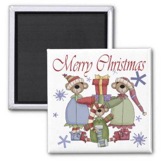 Merry Christmas Teddy Bears Magnets