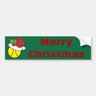 Merry Christmas Tennis Bumper Stickers