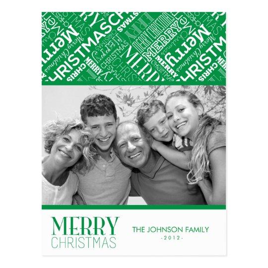 Merry Christmas Text Design Photo Card