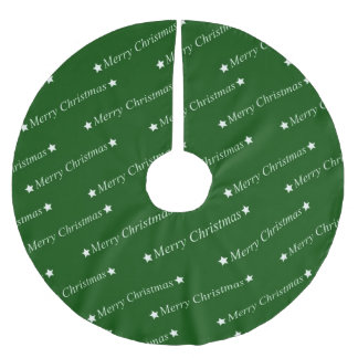 merry christmas,text,green brushed polyester tree skirt