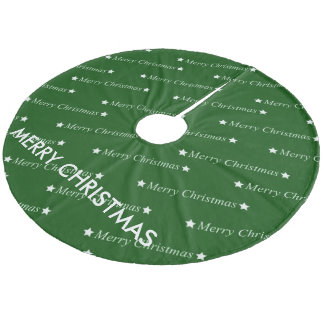merry christmas,text,green fleece tree skirt