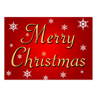 Merry Christmas text on a red background Business Card