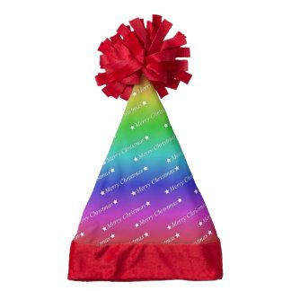 merry christmas,text,rainbow santa hat