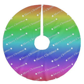 merry christmas,text,rainbow brushed polyester tree skirt