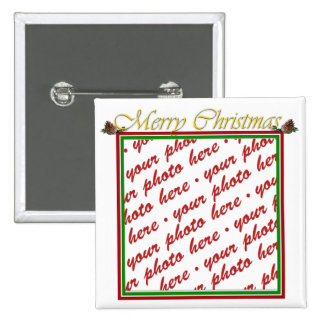 Merry Christmas Text with Pine cones Pin