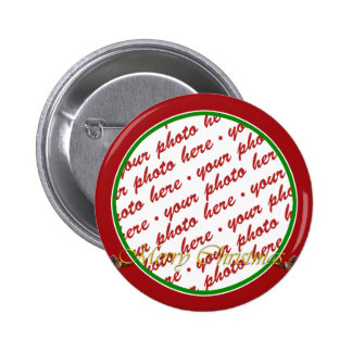 Merry Christmas Text with Pine cones Pins