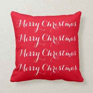 """Merry Christmas"" Throw Pillow"