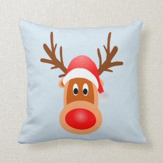 Merry Christmas Throw Pillow Rudolph Light It Up