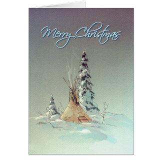 MERRY CHRISTMAS TIPI by SHARON SHARPE Card