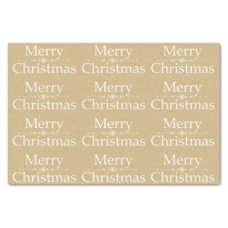 Merry Christmas Tissue Paper in Golden & White