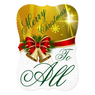Merry Christmas To All Invitation Card