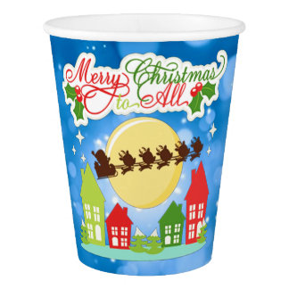 Merry Christmas To All Paper Cup