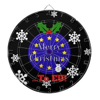 """Merry Christmas..To EU!"" Brexit Christmas Dartboard"