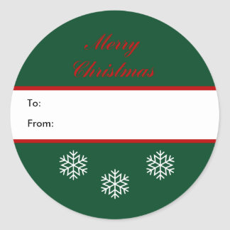 Merry Christmas to/from Label Stickers