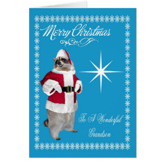 Merry Christmas To Grandson Greeting Card