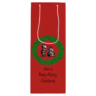 Merry Christmas to Hairdresser Wine Gift Bag