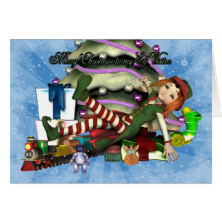 Merry Christmas to my Elf Visitor Greeting Card