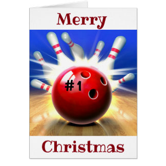 MERRY CHRISTMAS TO MY ***FAVORITE BOWLER*** CARD