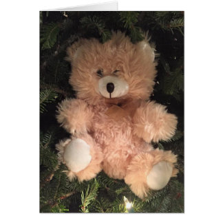 "MERRY CHRISTMAS TO ""MY TEDDYBEAR"" CARD"
