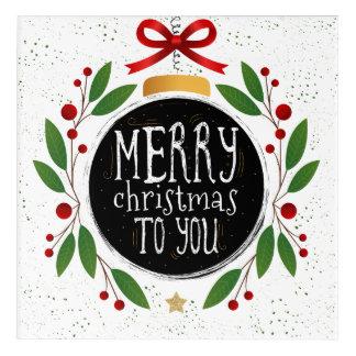 "Merry Christmas To You Acrylic Wall Art, 12"" x 12"" Acrylic Print"