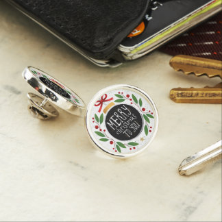 Merry Christmas To You Round Lapel Pin