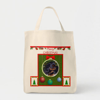 Merry Christmas Tote Grocery Tote Bag