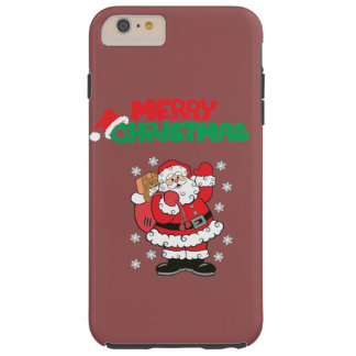 Merry Christmas Tough iPhone 6 Plus Case