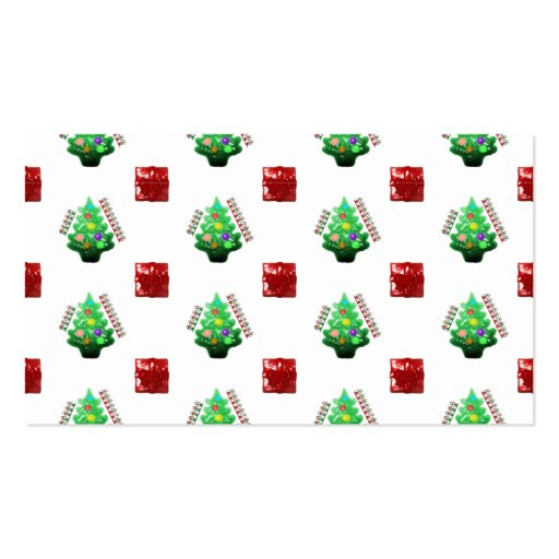 Merry Christmas Tree and Gift Business Cards