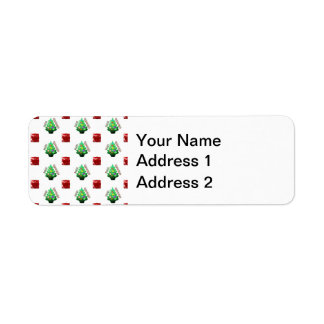 Merry Christmas Tree and Gift Return Address Label