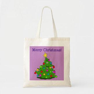 Merry Christmas Tree Budget Tote Bag