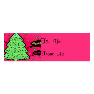 Merry Christmas Tree Pack Of Skinny Business Cards